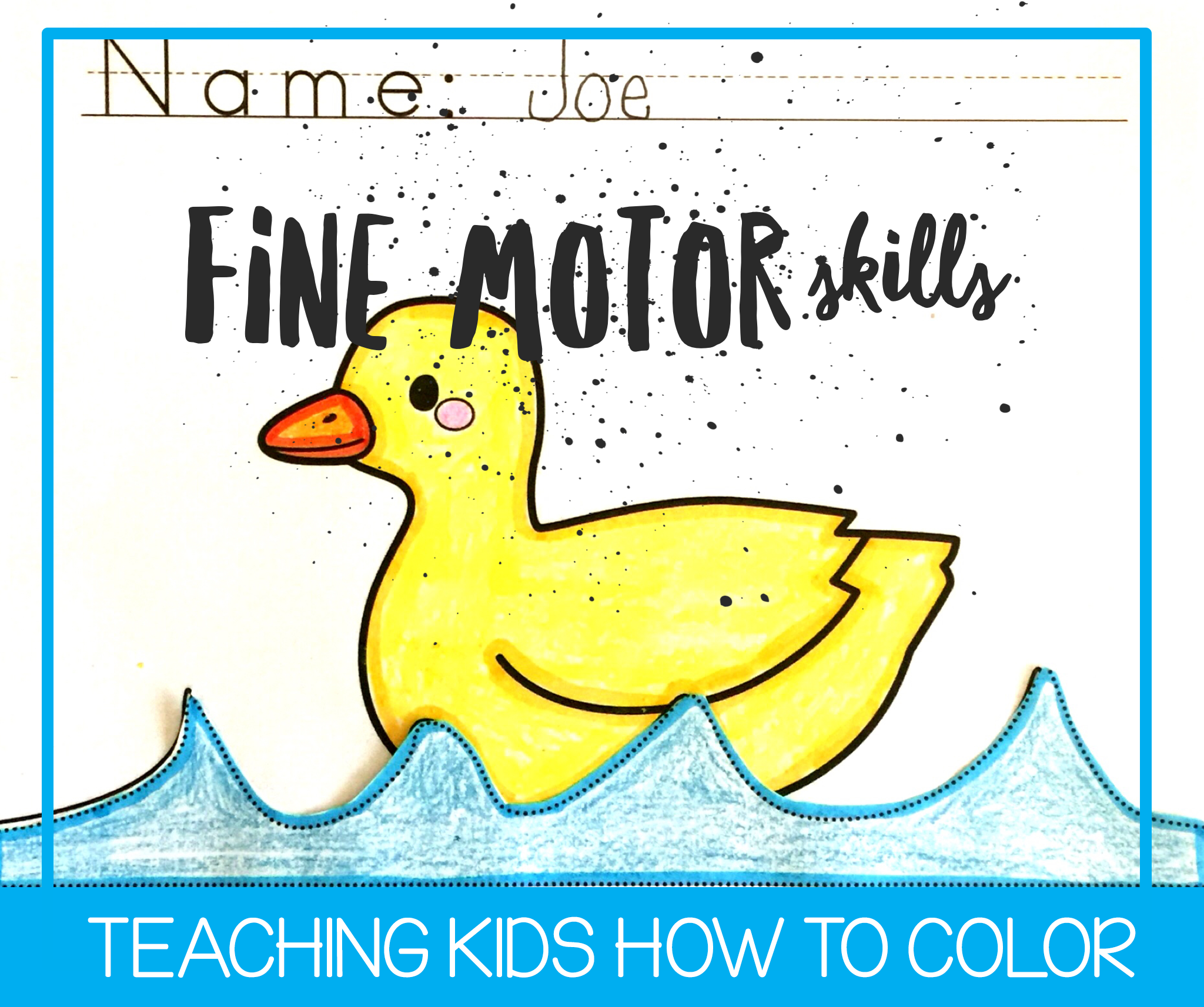Teaching Kids How to Color Well