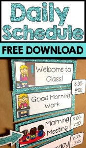 schedule cards free download