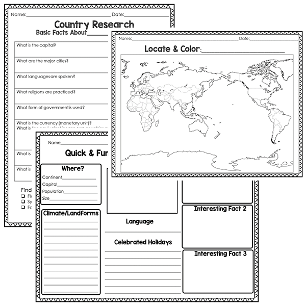 Country Research Project Resource Image