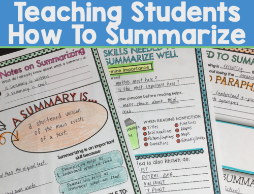 Teaching Students How to Summarize