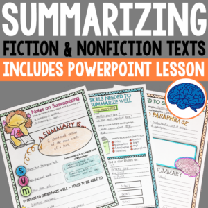how to write a summary for kids resource
