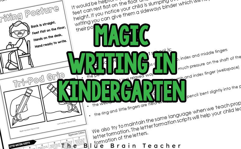 The Magical World Of Kindergarten Writing