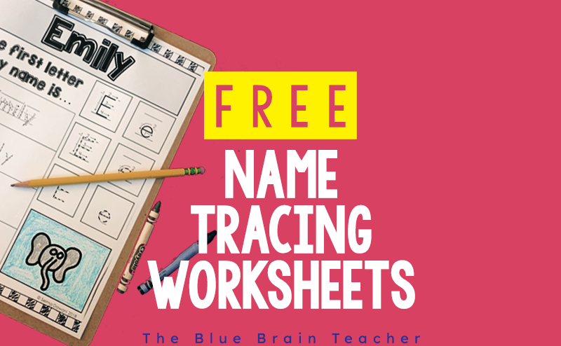 Free Name Tracing Worksheets