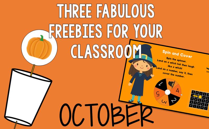 Free October Freebies for Kindergarten