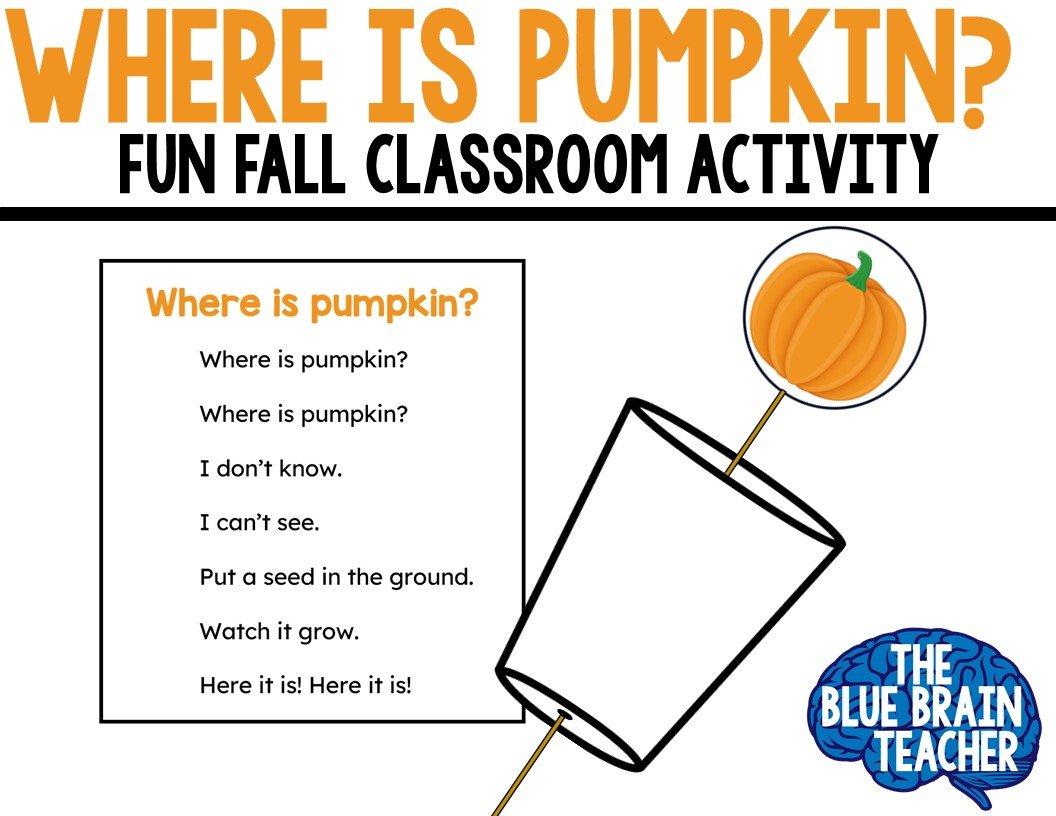 Free Where is Pumpkin Craft for Kindergarten