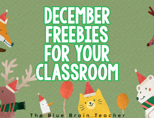 December Kindergarten and First Grade Freebies
