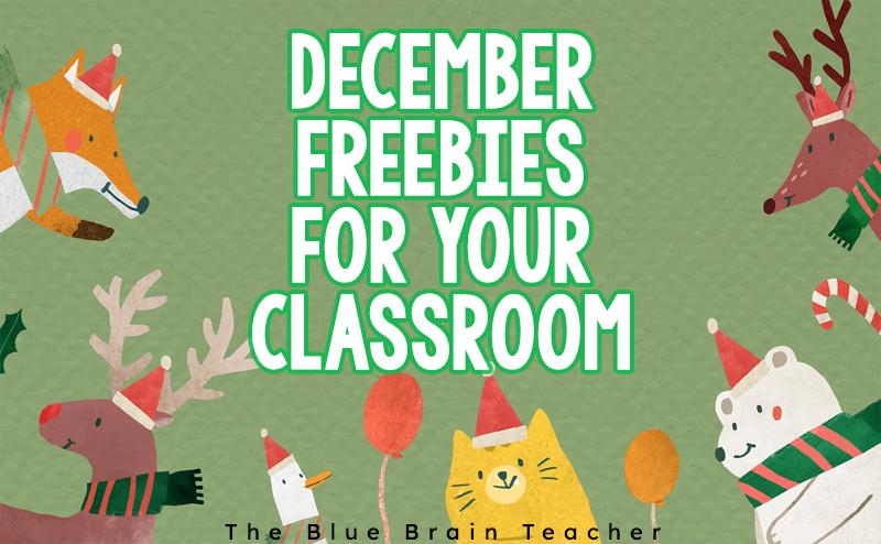 December Kindergarten and First Grade Freebies