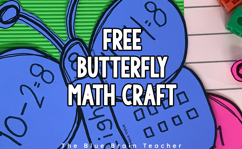 Number Sense Butterfly Craft Freebie