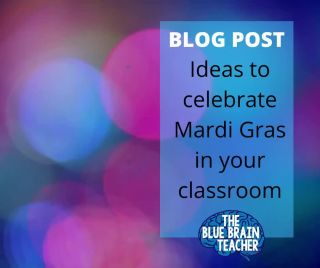New blog post up with ideas to celebrate Mardi Gras in your classroom. Link in bio.